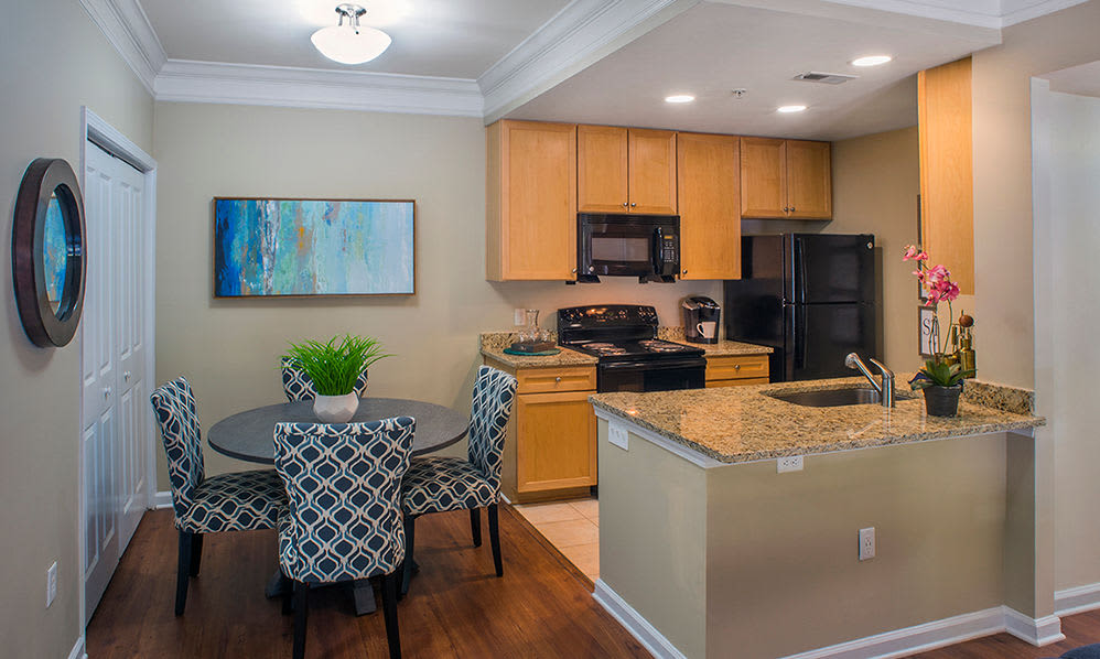Kitchen and dining room at Atkins Circle in Charlotte, North Carolina