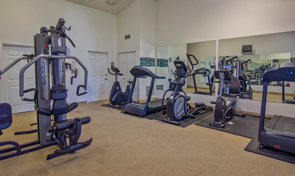 Get your workout in at Steeplechase Apartments & Townhomes in Toledo, Ohio