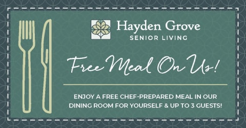 meal ticket for Hayden Grove Senior Living