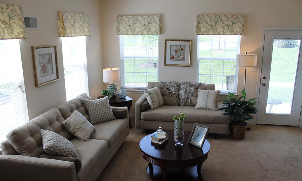 View of living room at The Encore at Laurel Ridge in Harrisburg, PA