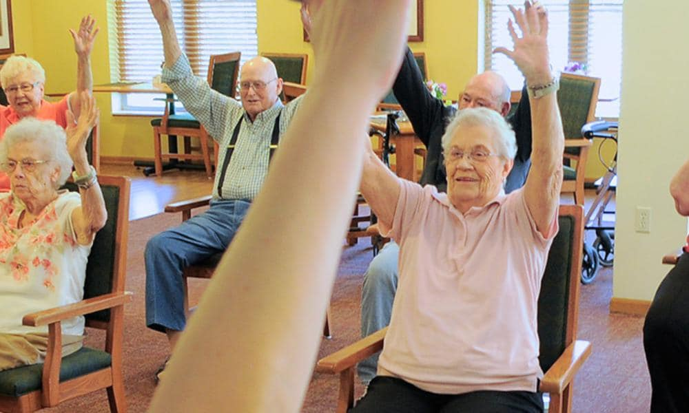 Our residents being part of our exercises at Azpira Place of Breton in Kentwood, MI