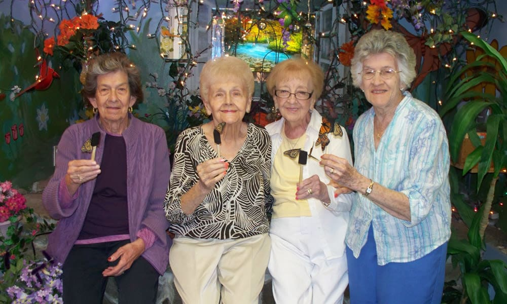 four residents at the museum from Heritage Hill Senior Community in Weatherly, Pennsylvania