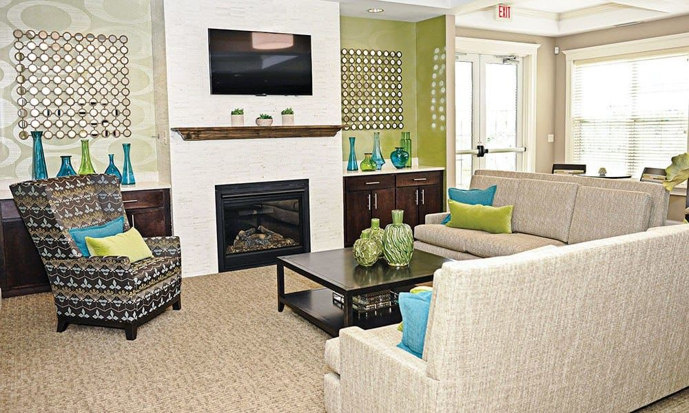 Spacious living room  at Canal Crossing home in Camillus, NY