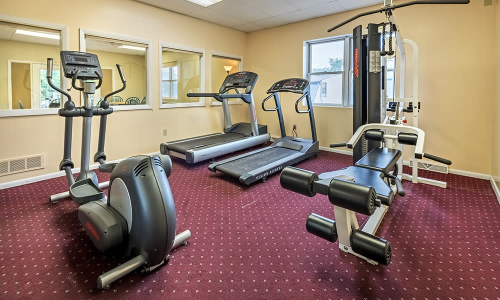 Fitness center at The Cascades Townhomes and Apartments in Pittsburgh