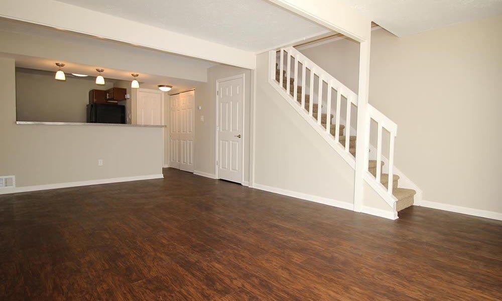Open floor plan space at Nineteen North Apartments in Pittsburgh