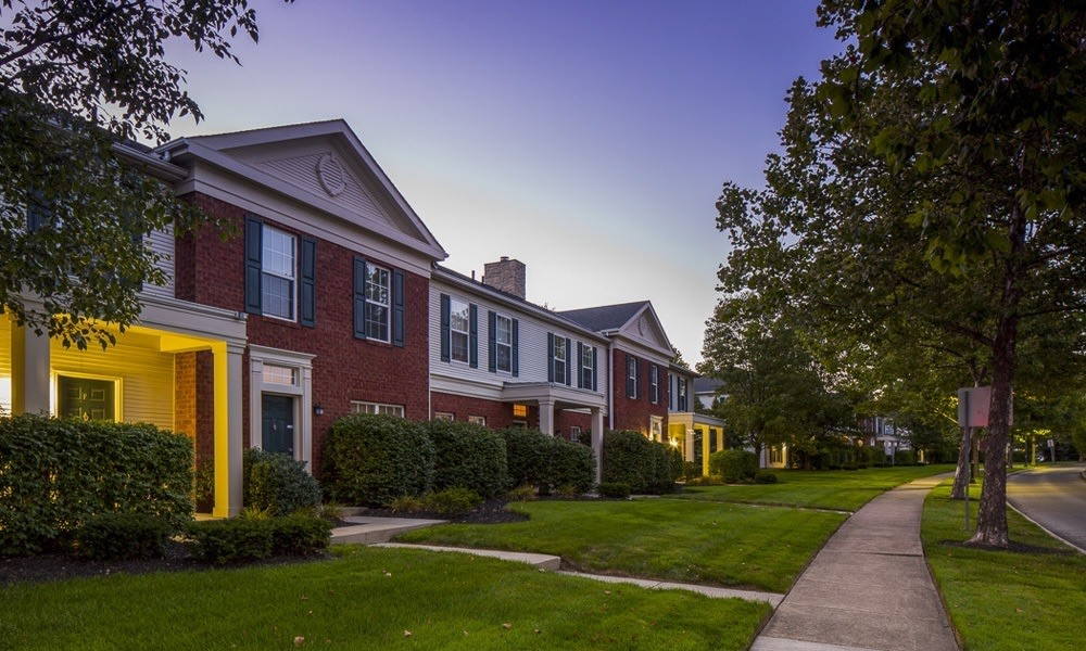 Exterior view of apartments at The Woods at Polaris Parkway in Westerville