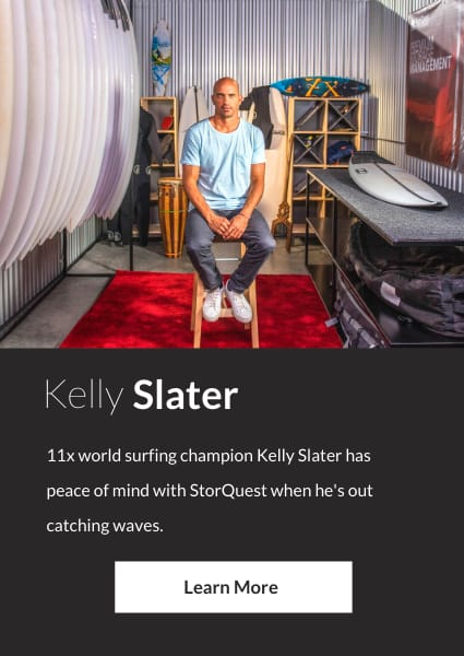 Meet Kelly Slater, an ambassador for StorQuest Self Storage in Santa Monica, California