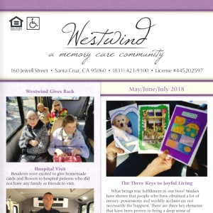 May Westwind Memory Care Newsletter