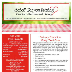 July Scholl Canyon Estates Newsletter