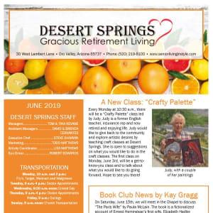 June Desert Springs Gracious Retirement Living Newsletter