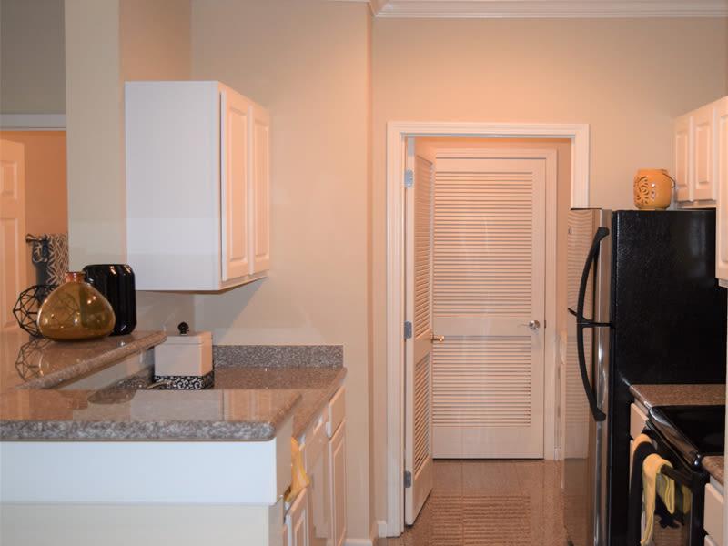 Black appliances in the kitchen at Lexington Park Apartment Homes