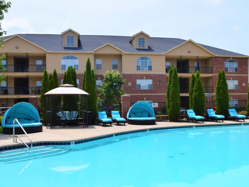 A pretty blue pool at Lexington Park Apartment Homes