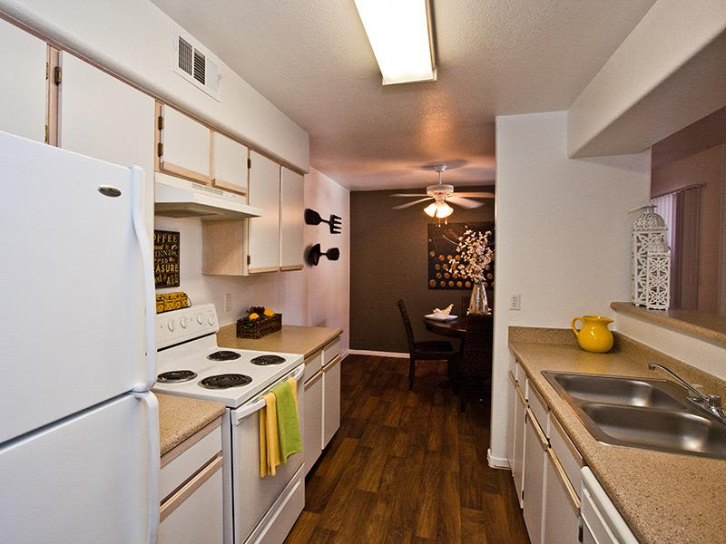 Fully equipped kitchen at Monterra Apartment Homes