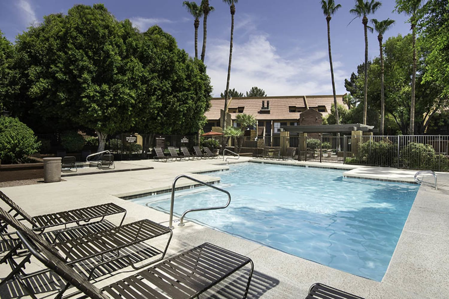 Enjoy a swimming pool at Waterford Place Apartments in Mesa, Arizona