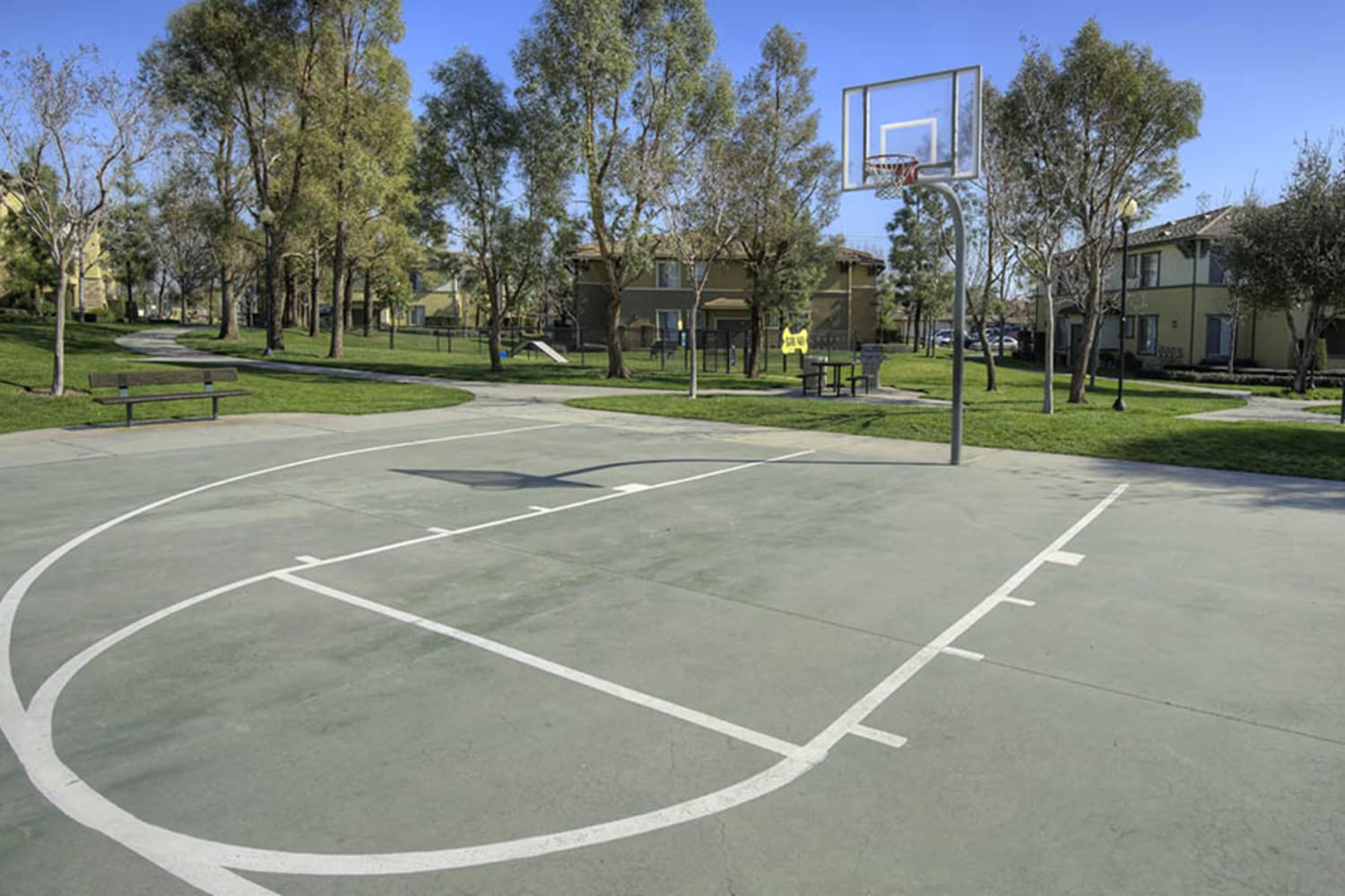 Basketball court at Camino Real in Rancho Cucamonga, California