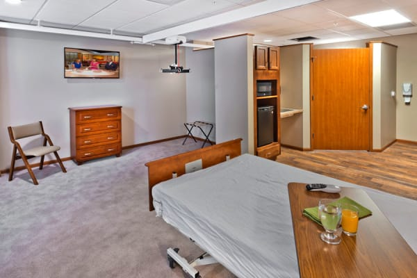 A transitional room at Aurora on France in Edina, Minnesota.