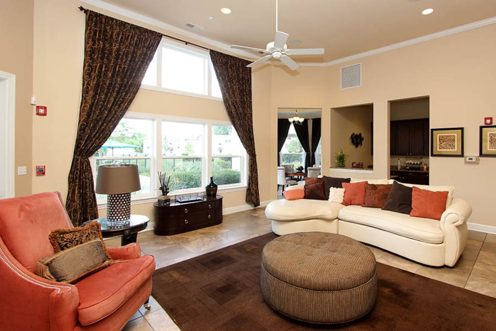 Community common area for resident use at Riverstone Apartments in Bolingbrook, Illinois