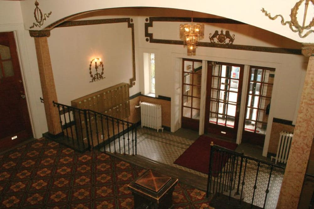 Historic hall at Parkwin Apartments