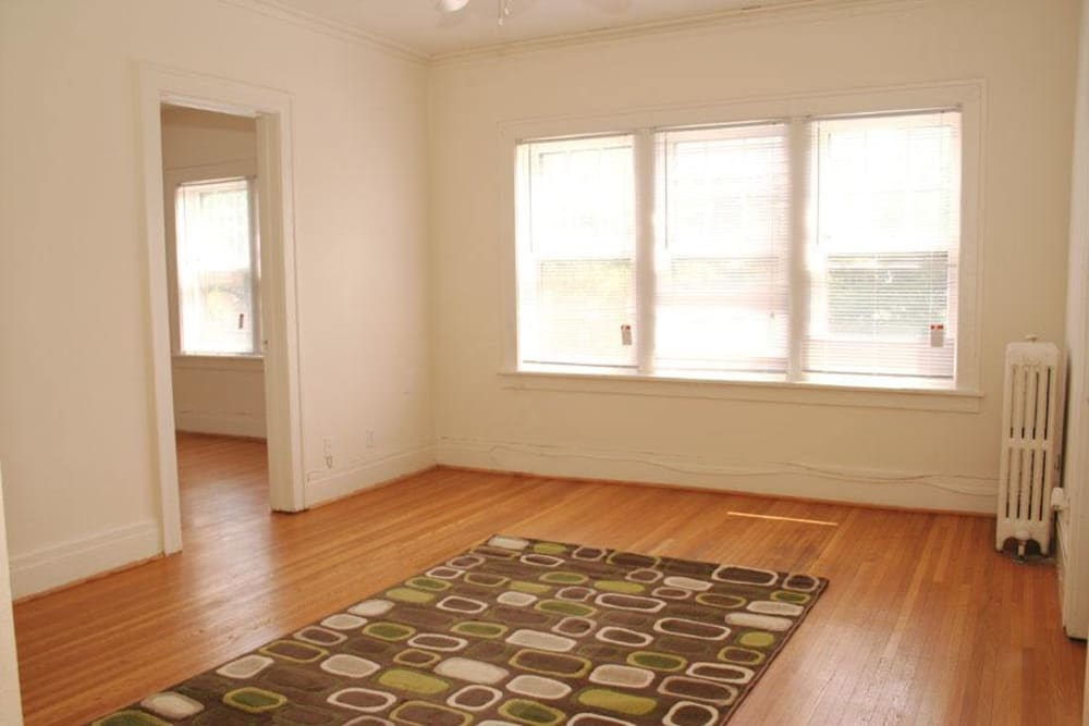 Hardwood floors at Parkwin Apartments