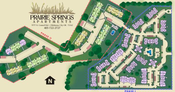 Site map for Prairie Springs in Oklahoma City, Oklahoma