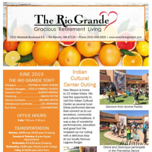 June The Rio Grande Gracious Retirement Living Newsletter