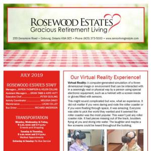 July Rosewood Estates Newsletter