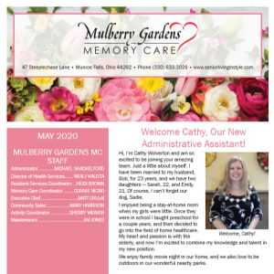 May  Mulberry Gardens Memory Care Newsletter