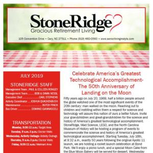 July Stoneridge Gracious Retirement Living Newsletter