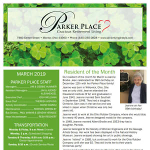 March Parker Place Newsletter