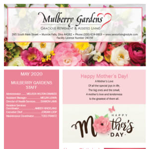 May Mulberry Gardens Assisted Living Newsletter