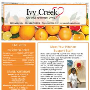 June  Ivy Creek Gracious Retirement Living Newsletter
