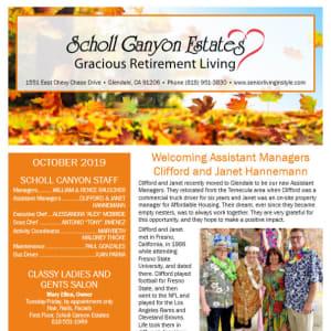 October Scholl Canyon Estates Newsletter