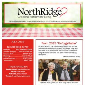 July Northridge Gracious Retirement Living Newsletter