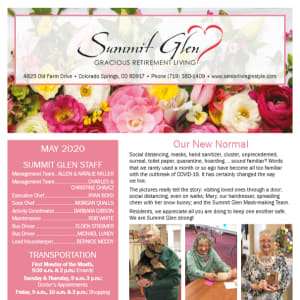 May Summit Glen newsletter