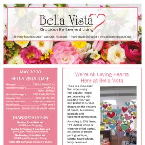 May BellaVista Gracious Retirement Living newsletter