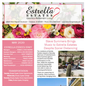 May Estrella Estates Gracious Retirement Living newsletter