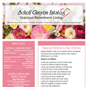 May Scholl Canyon Estates newsletter