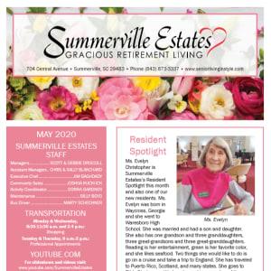 May Summerville Estates Gracious Retirement Living newsletter