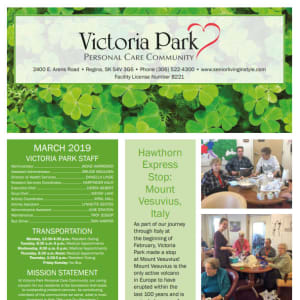 March Victoria Park Personal Care Home Newsletter