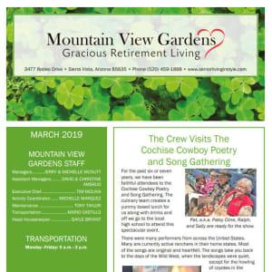 March Mountain View Gardens newsletter