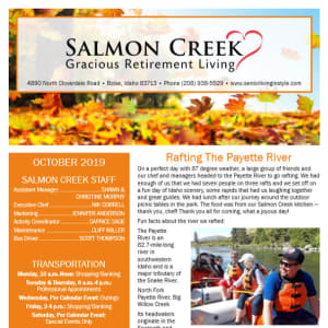 October Salmon Creek Newsletter