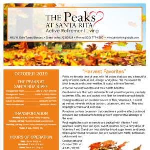 October The Peaks at Santa Rita Newsletter