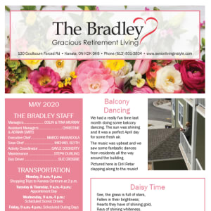 May The Bradley Gracious Retirement Living Newsletter