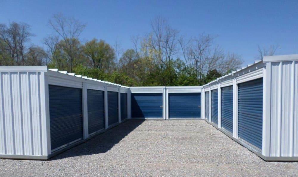 Exterior Of Clean Storage Units at Compass Self Storage in Cincinnati