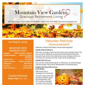 October Mulberry Gardens Assisted Living Newsletter