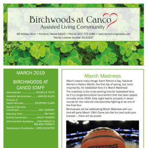 March Birchwoods at Canco Assisted Living Newsletter