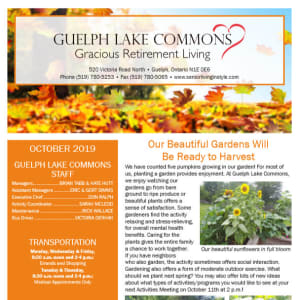 October Guelph Lake Commons Newsletter