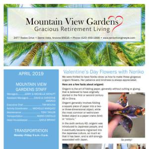 April Mountain View Gardens Newsletter