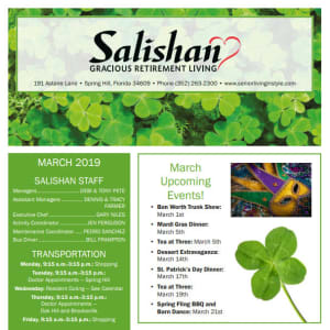 March Salishan Gracious Retirement Living Newsletter