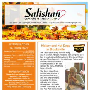 October Salishan Gracious Retirement Living Newsletter